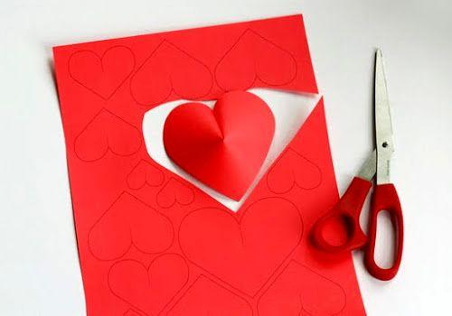 3d Hearts Decorations And Gift Boxes Valentines Day Paper Crafts
