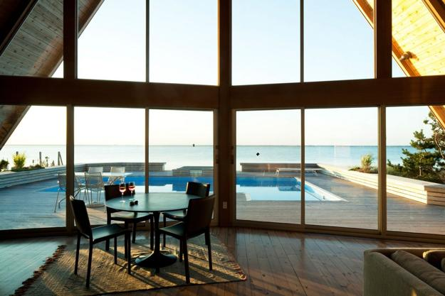 Beautiful Beach House Design Blending Glass Walls With