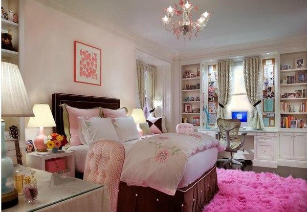 Bedroom Decorating In White And Pink Colors