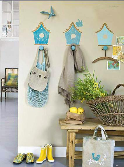 Creative Wall Decorations Inspired By Bird House Designs, Painting Ideas