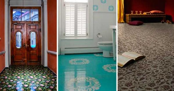 Contemporary Linoleum Eco Flooring Ideas For Modern