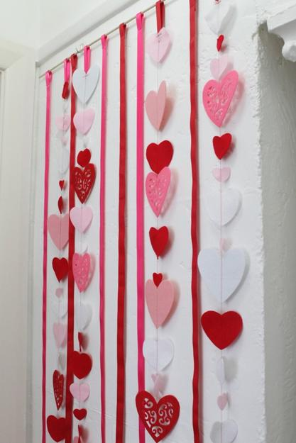 Making Hearts Decorations With Kids Paper Crafts For Valentines Day