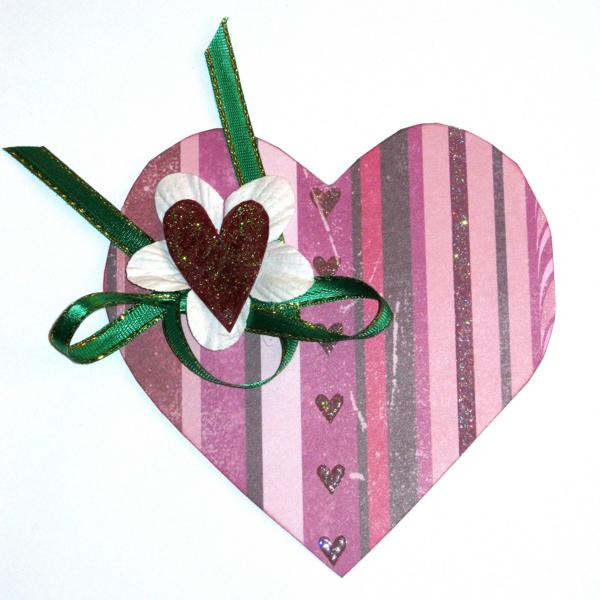 handmade hearts decorations for valentines day