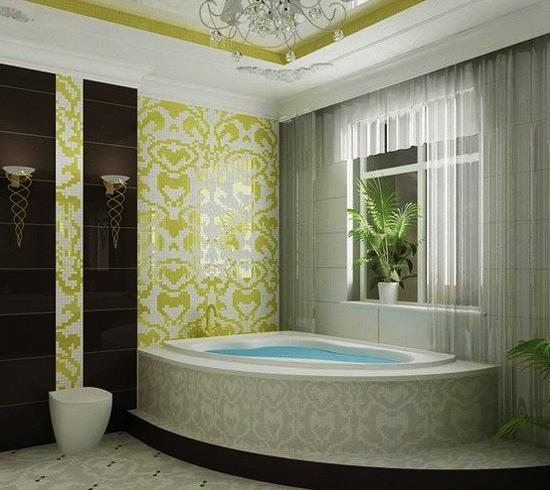 Bathroom Tiles Creating Beautiful Modern Bathtub Covering And Enclosure