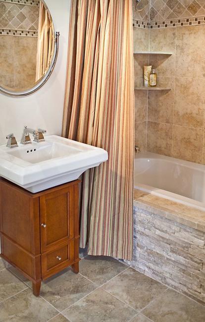Bathroom Tiles Creating Beautiful Modern Bathtub Covering and Enclosure
