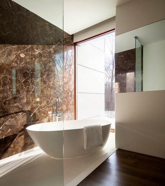 contemporary bathroom design with bathtub