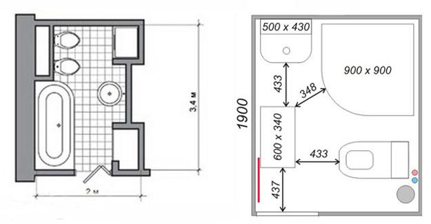 Small Bathroom Design Plan