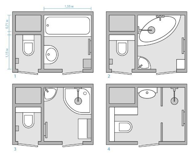 33 Space Saving Layouts for Small Bathroom Remodeling