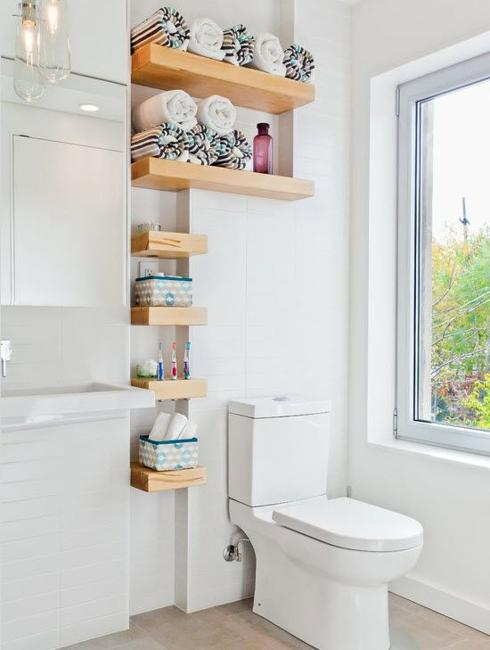Wall Shelves To Make Bathroom Design