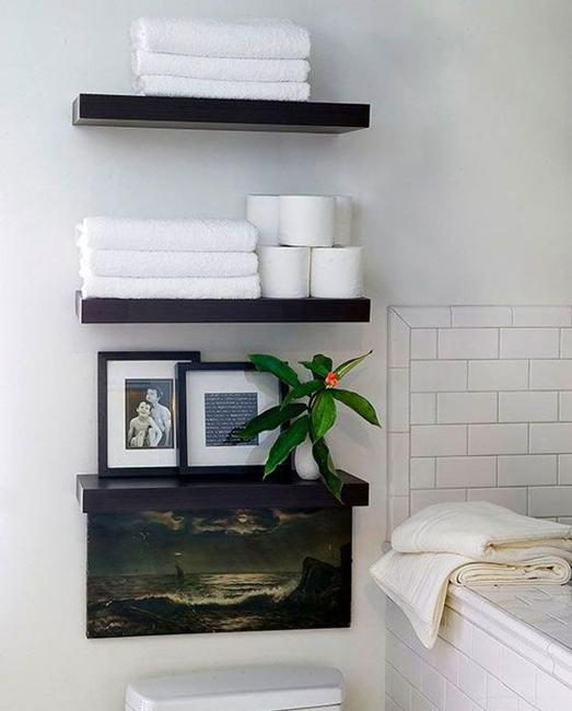Portable Shelves With Baskets Small Bathroom Storage Solutions