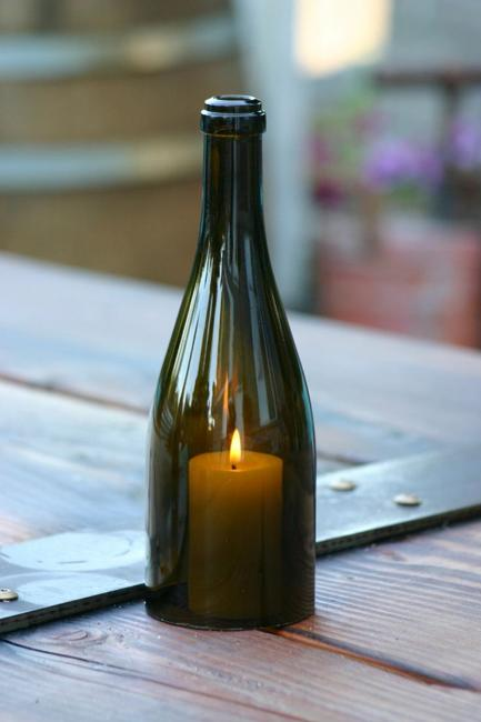 Recycling Glass Bottles For Candles Centerpieces And Table