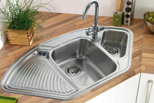 corner sinks kitchen modern kitchens with space saving and ergonomic corner sinks 2618