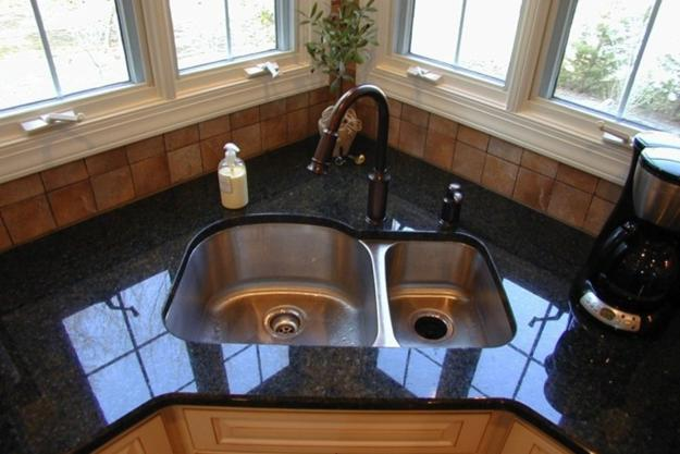 Modern Kitchens With Space Saving And Ergonomic Corner Sinks