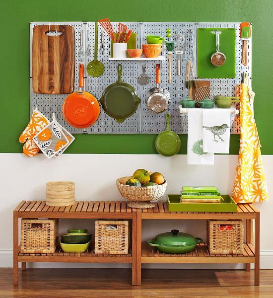 Pegboard Kitchen Storage: 22 Space Saving Kitchen Storage Ideas To Get Organized In