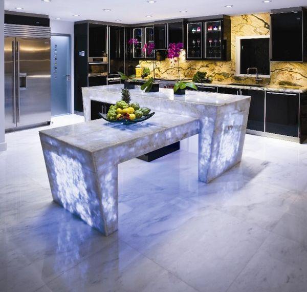 Kitchen Countertop Ideas: Modern Glass Kitchen Countertop Ideas, Latest Trends In Decorating Kitchens