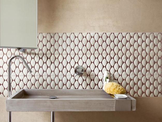 Striking Decoration Patterns Floor Tiles For Modern Bathroom Design