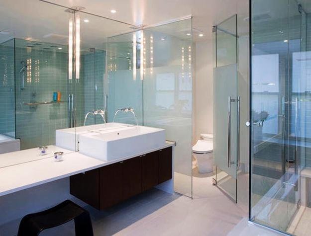 Large Wall Mirrors, Glass Doors And Glass Wall Design, Bathroom Trends 2017