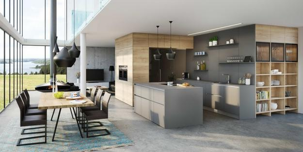 Neutral Color Tones And Brown Colors Of Natural Wood, Modern Kitchen Colors,  And Design Trends