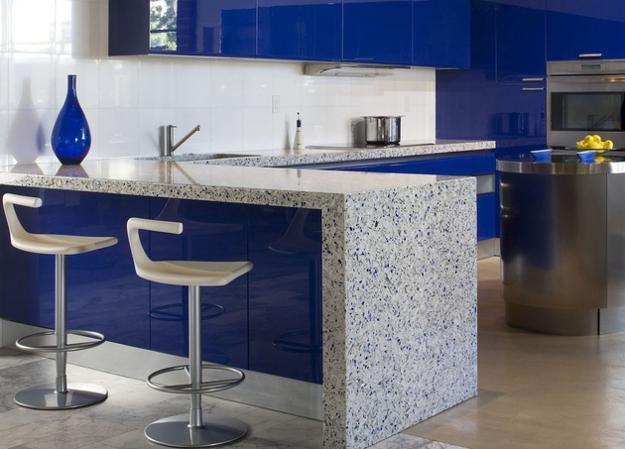Modern Glass Kitchen Countertop Ideas, Latest Trends in ... on Modern Kitchen Counter Decor  id=31975
