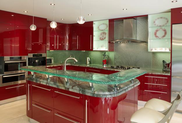 Modern Glass Kitchen Countertop Ideas, Latest Trends in ... on Modern Kitchen Countertop Decor  id=19276