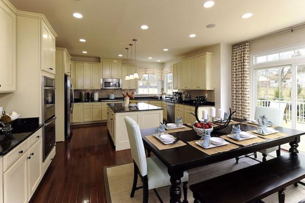 Large Dining Table With Upholstered Chairs Modern Kitchen Furniture Design Trends