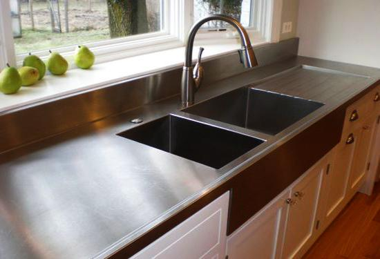 Stylish Metal Kitchen Countertop Ideas Giving Industrial Look to Modern Kitchens & Stylish Metal Kitchen Countertop Ideas Giving Industrial Look to ...