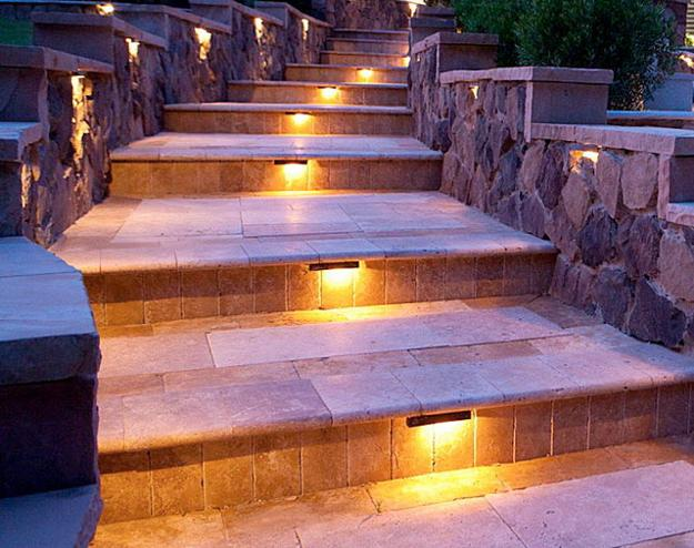 Outdoor Lights For Safe Yard Landscaping Beautiful Stairs