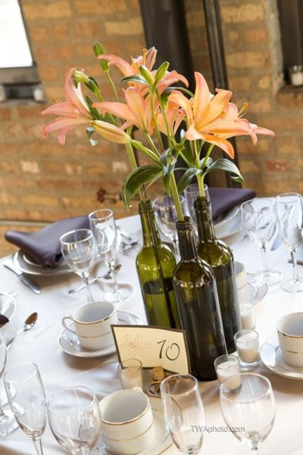 Recycling Glass Bottles Ideas For Floral Table Decorations And Centerpieces