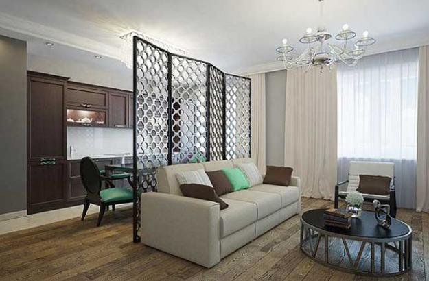 Smart And Modern Interior Design With Room Dividers
