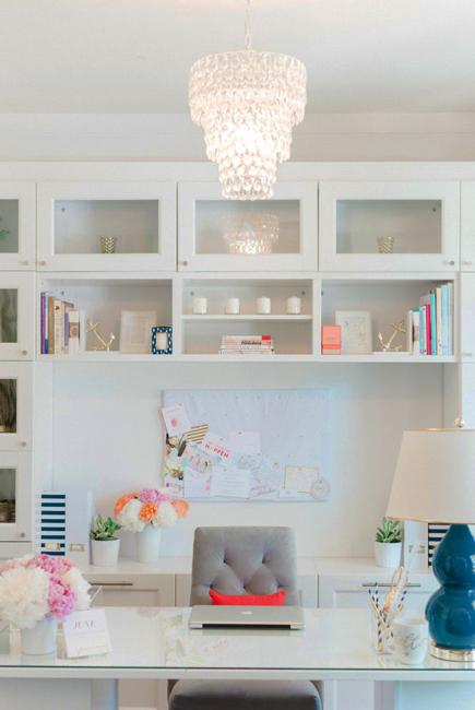 Black N White Decorating With Color For Home Office