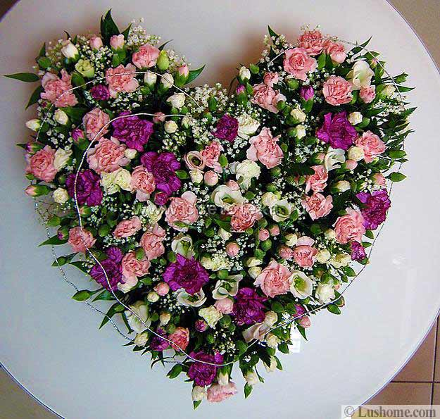 Flower Arrangements For Valentines Day, Blooming Hearts