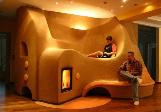 Rustic Wood And Bean Bags Chairs Living Room Design Decorating Around Contemporary Stove