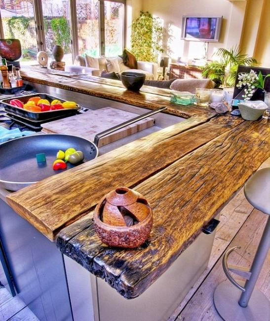 Kitchen Countertops That Look Like Wood: Amazing Wood Kitchen Countertop Ideas Adding Exotic Look To Modern Interiors