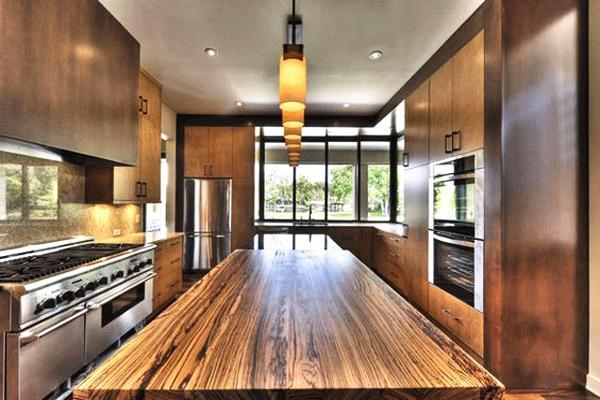Amazing Wood Kitchen Countertop Ideas Adding Exotic Look ... on Modern Kitchen Counter  id=77843