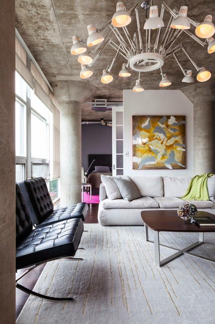 Creative Lighting Design For Loft Living Spaces