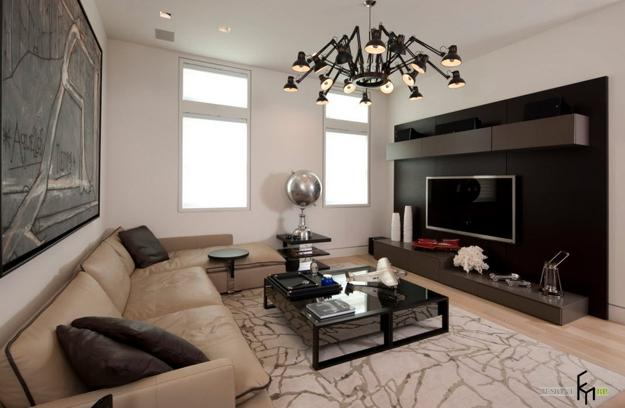 Tv and furniture placement ideas for functional and modern - Modern family room design ideas ...