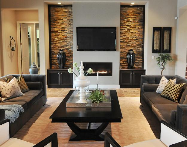 Tv and furniture placement ideas for functional and modern - Small living room ideas with tv ...