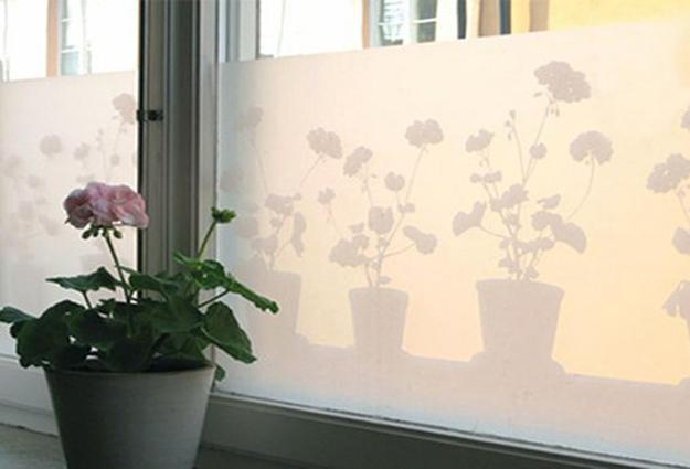 ideas to use semi transparent films for windows