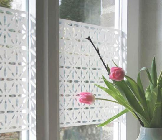 Decorative Accents for Window Glass Adding Privacy to Modern ...