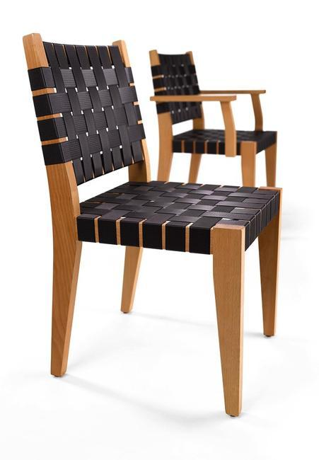 recycling seat belts and waistband fabric stripes for modern furniture