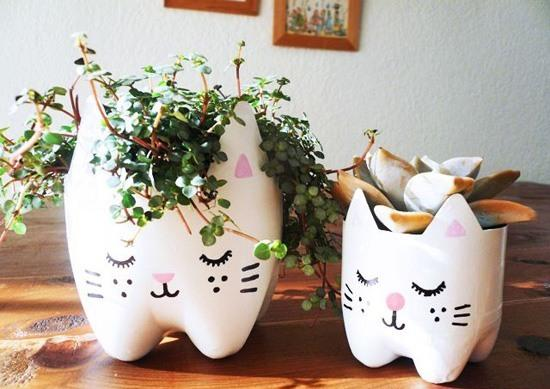 15 Creative Ideas To Recycle Plastic Bottles For Decorative Vases
