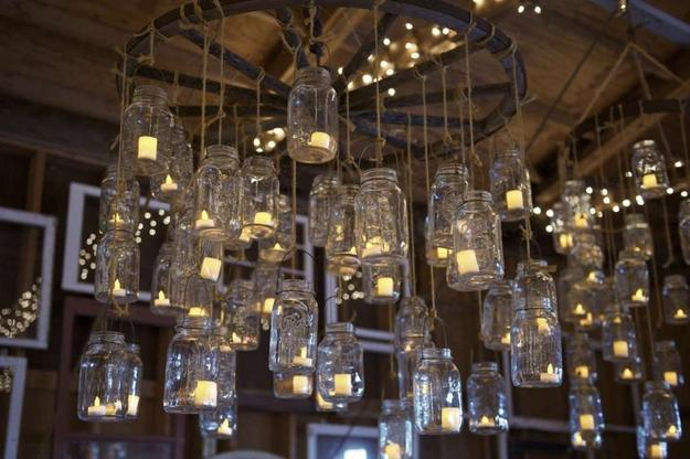 Original Glass Recycling Ideas Creating Hanging Lamps And