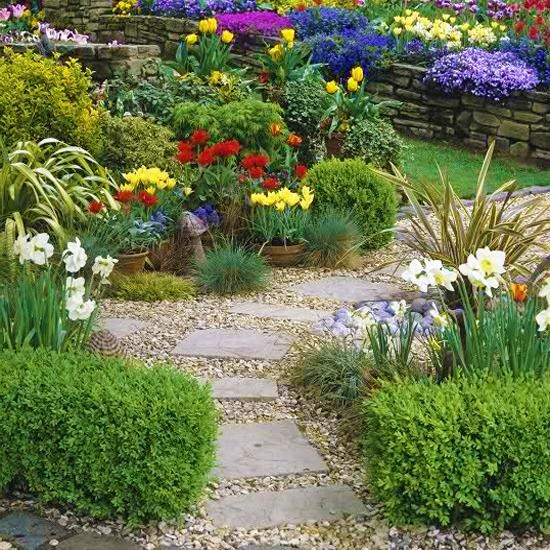 Spring Flowers And Yard Landscaping Ideas 20 Tulip Bed: Ideas For Planting Tulips To Create Dazzling Accents And