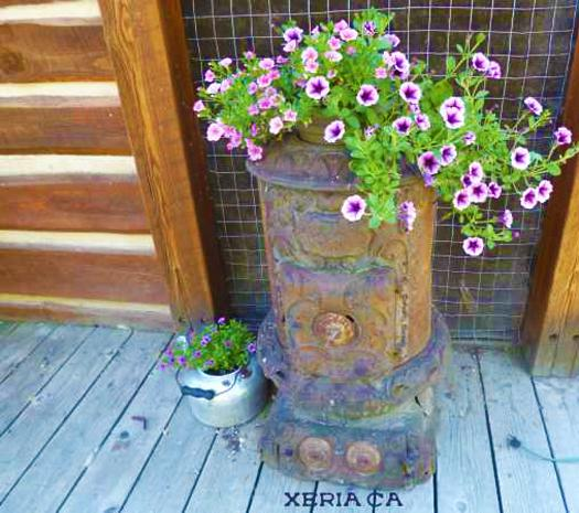 Recycling Old Stoves For Metal Planters To Save Money On