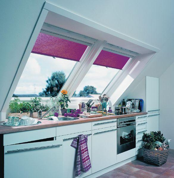 25 Captivating Ideas For Kitchens With Skylights: Modern Skylights, Window Designs Visually Stretching Small