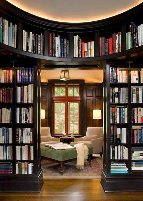 Living Room Library Design Ideas: 15 Home Library Design Ideas Creating Spectacular Accent Walls