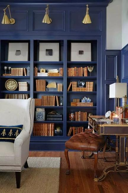 Home Library Office: 15 Home Library Design Ideas Creating Spectacular Accent Walls