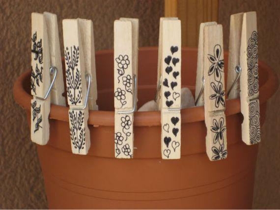 30 Art And Craft Ideas To Use Wooden Clothespins For Home