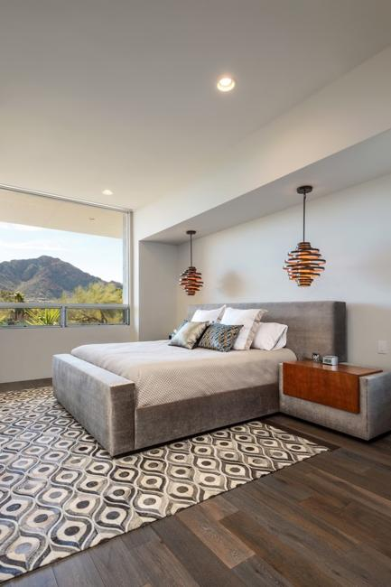 Bedroom With Glass Sliding Doors, Contemporary Home The Cube House By Carr  Design Group