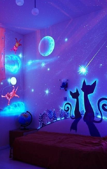 glow paint and decorating ideas for modern interiors